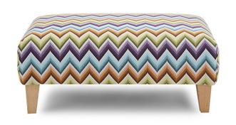Pizzazz Pattern Banquette Footstool