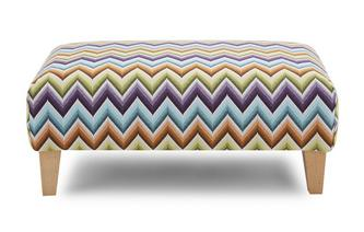Pattern Banquette Footstool