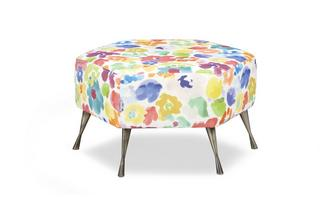 Hexagon Footstool Autumn Garden