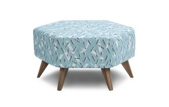 Hexagon Footstool Fleck