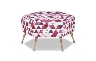 Hexagon Footstool Jewel Cluster