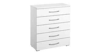 Plaza 5 Drawer Wide Chest