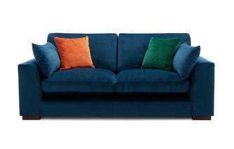 Velvet Formal Back 2 Seater Sofa