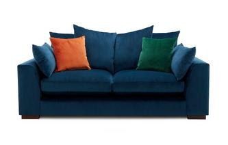 Velvet Pillow Back 2 Seater Sofa