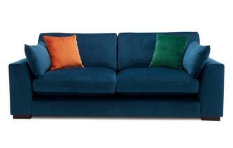 Velvet Formal Back 3 Seater Sofa