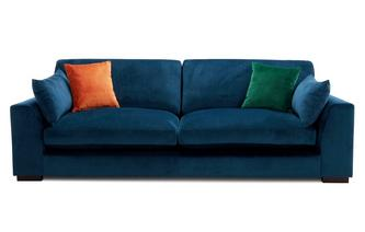 Velvet Formal Back 4 Seater Sofa