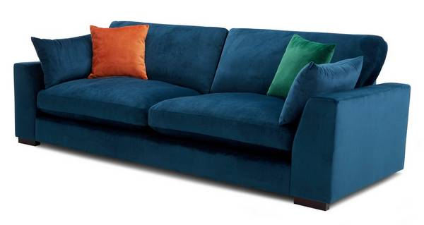 Plush Velvet Formal Back 4 Seater Sofa Sensual Velvet Dfs