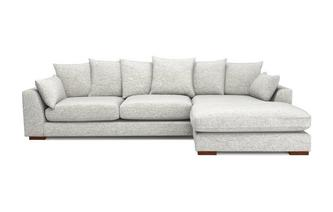 Pillow Back Right Hand Facing Large Chaise End Sofa