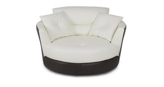 Polar Leather and Leather Look Large Swivel Chair