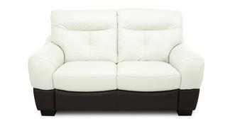 Polar Leather and Leather Look 2 Seater Sofa