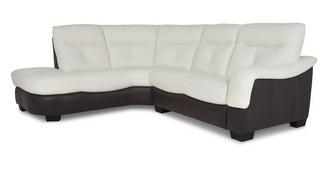 Polar Leather and Leather Look Right Arm Facing 2 Piece Corner Sofa