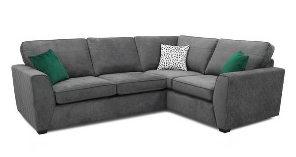 Pongo Left Hand Facing 2 Seater Corner, L Shape Sofas Dfs