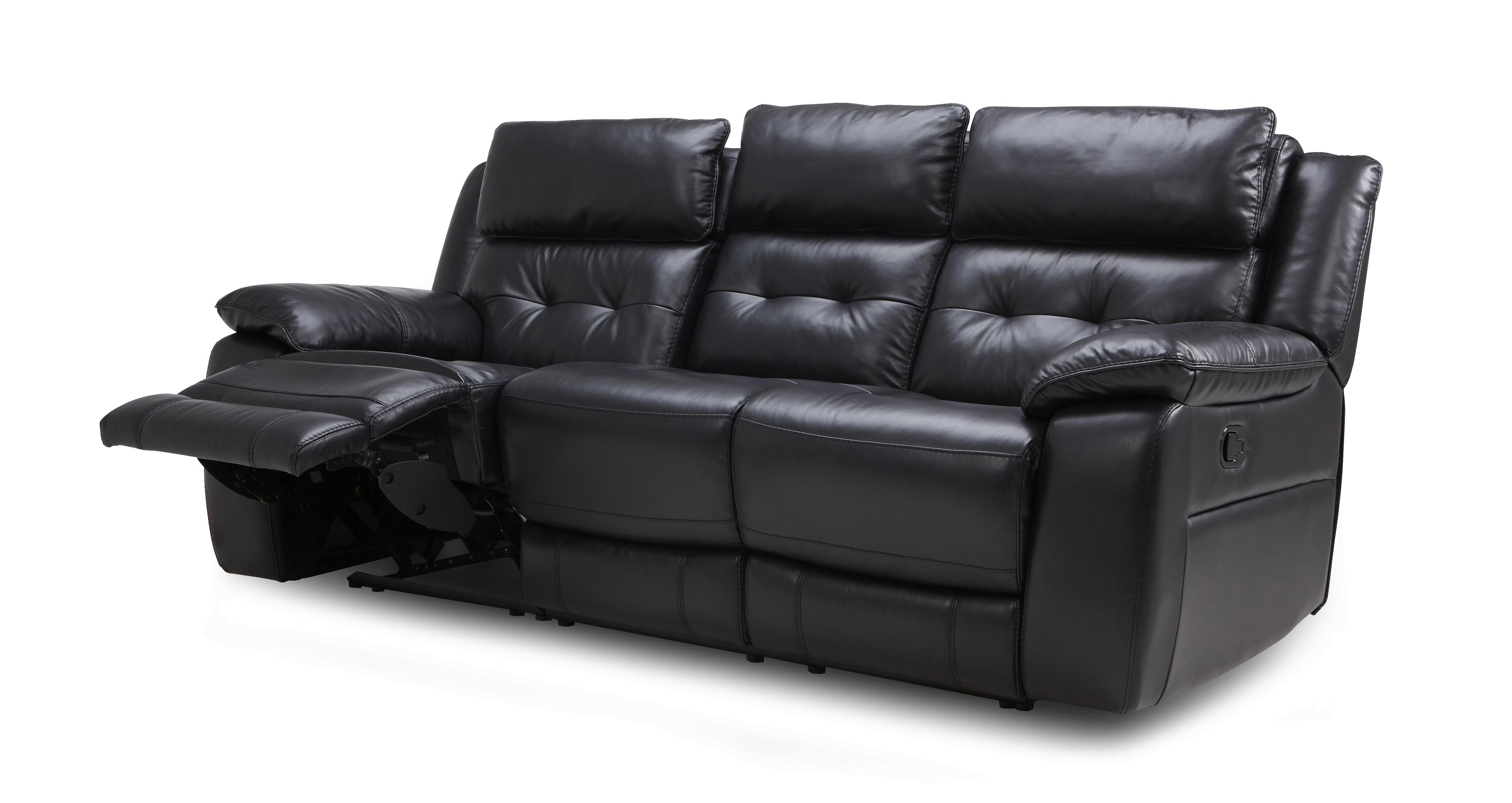 manual leather recliner porto premium seater dfs black chair