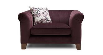 Primrose Velvet Cuddler Sofa