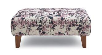 Primrose Pattern Banquette Footstool