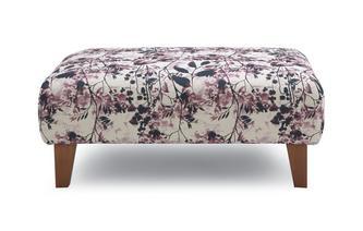 Pattern Banquette Footstool Primrose Pattern