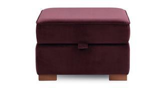 Primrose Velvet Storage Footstool