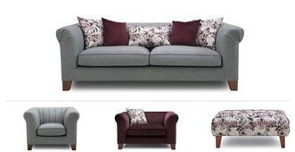 Primrose Clearance 4 Seater, Cuddler, Armchair & 2 x Stools