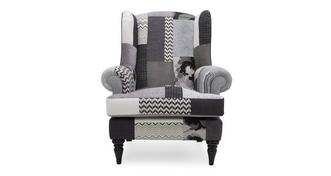Quant Patch High Back Wing Chair
