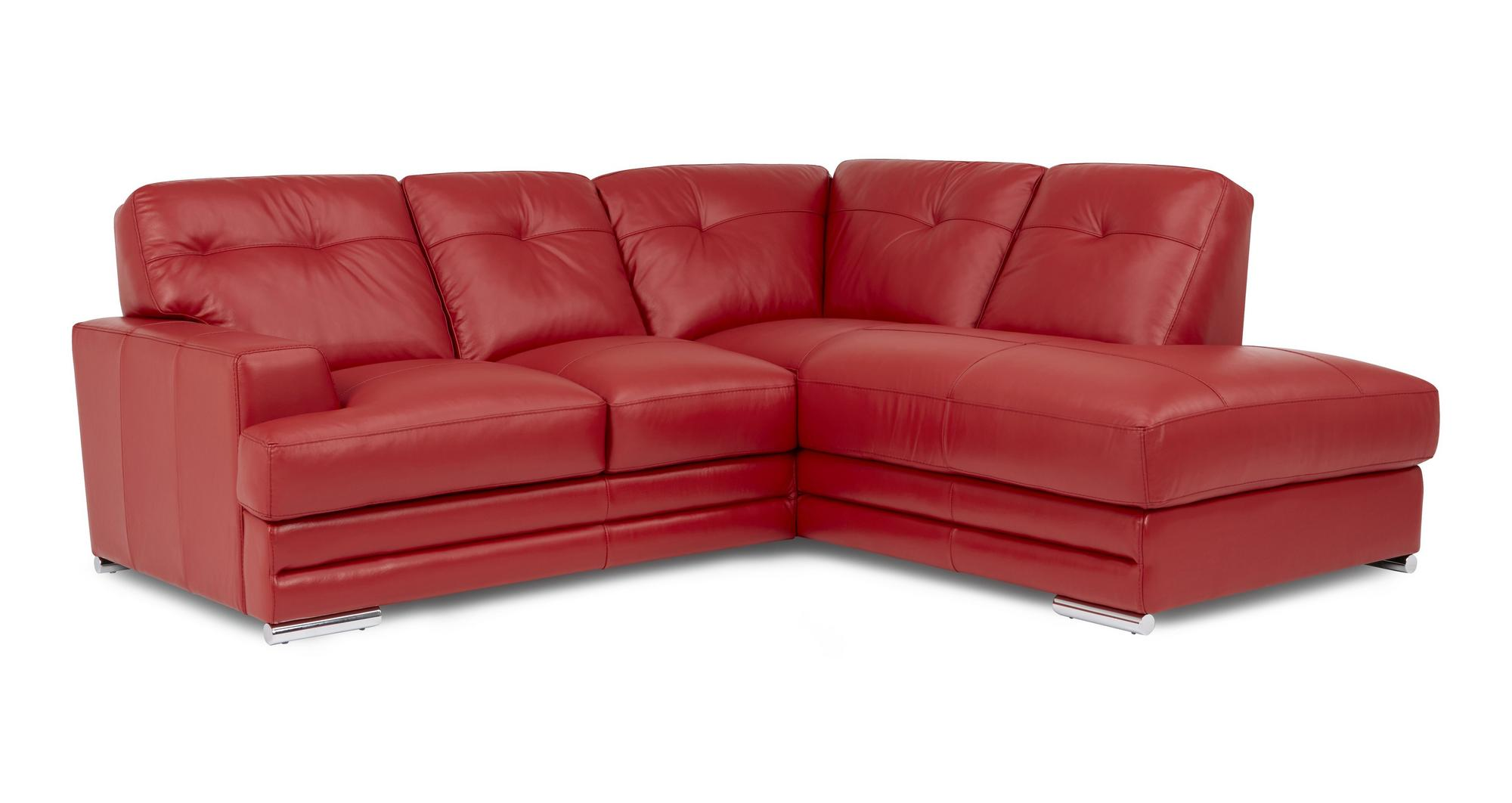 Dfs Quantum Red Leather Corner Sofa Set 3 Piece Clearance Bundle Ebay