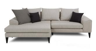 Quartz Left Hand Facing Chaise Sofa