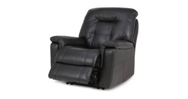 Quest Leder en lederlook Handbediende recliner stoel