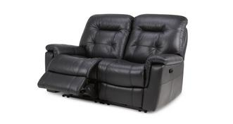 Quest Leather and Leather Look 2 Seater Manual Recliner