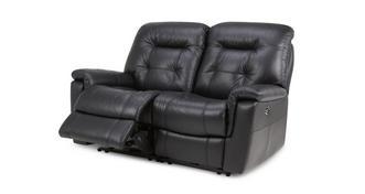 Quest Leder en lederlook 2-zits elektrische recliner