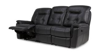 Quest Leather and Leather Look 3 Seater Manual Recliner