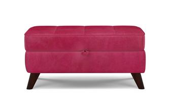 Velvet Storage Bench Stool