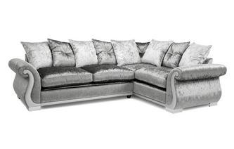 Pillow Back Left Hand Facing Arm 3 Seater Corner