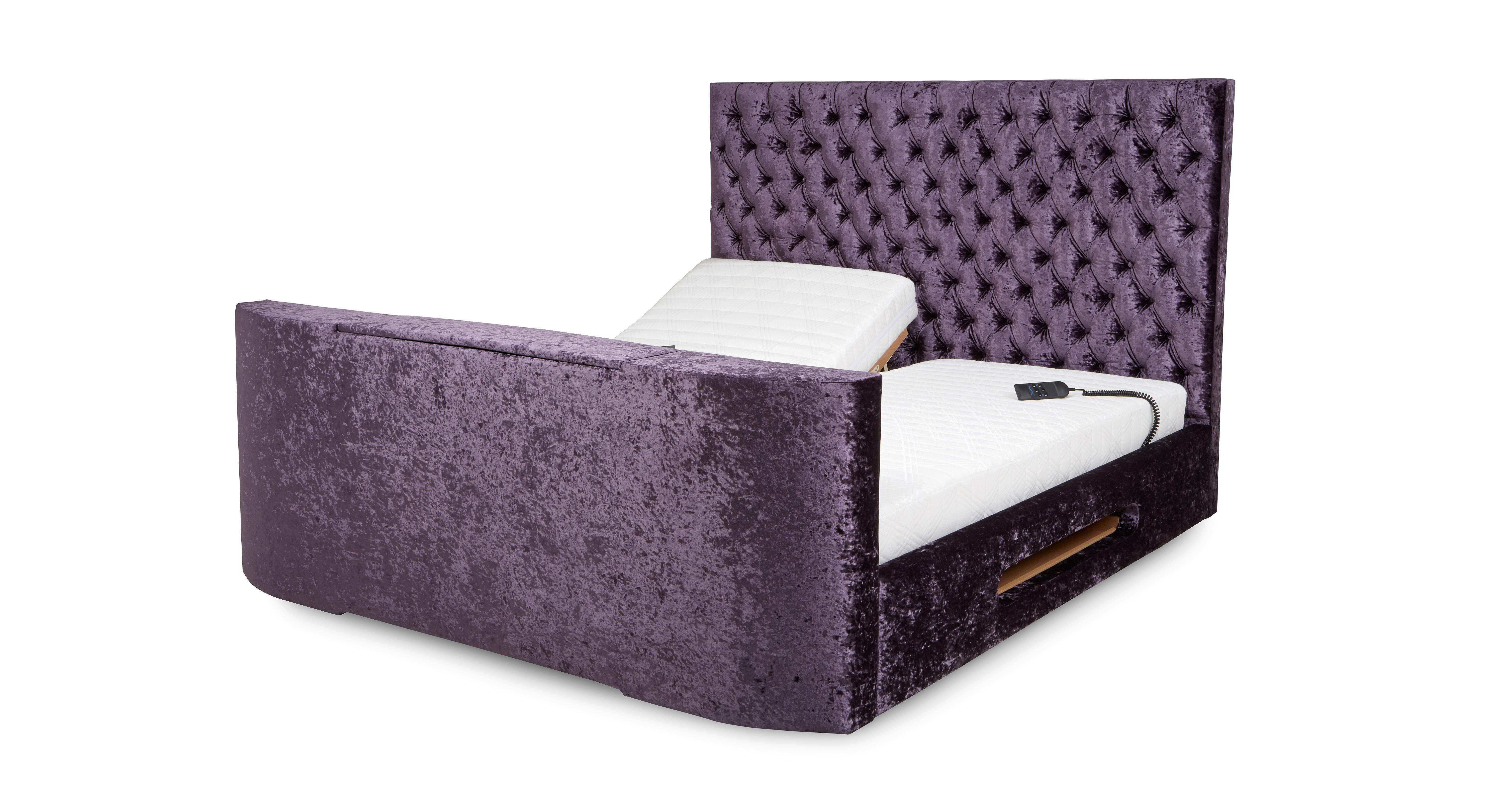 Super king size bed with tv - Radiant Super King Size 6 Ft Adjustable Tv Bed Mattress Impulse Dfs