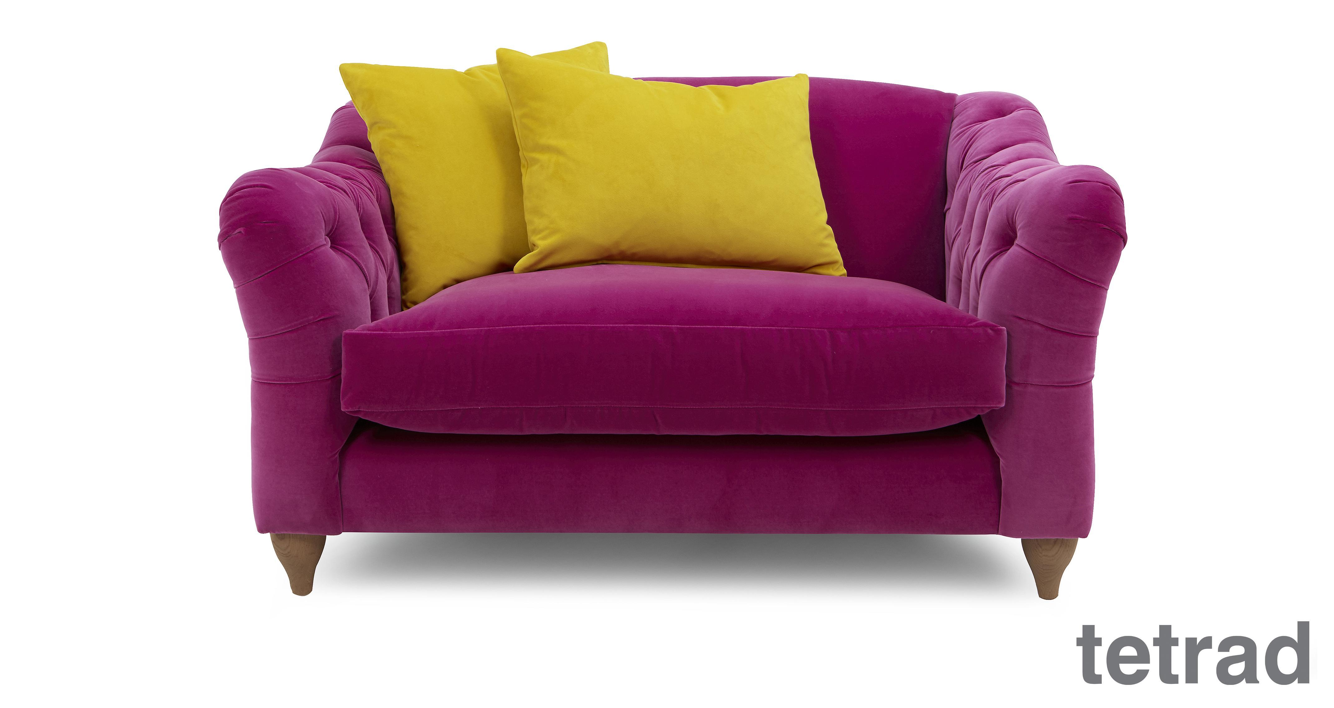 Raffles Snuggler Sofa Classic Velvet