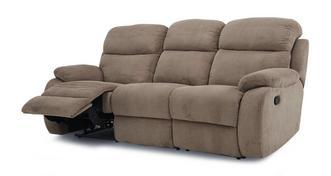 React 3-zitsbank handbediende recliner