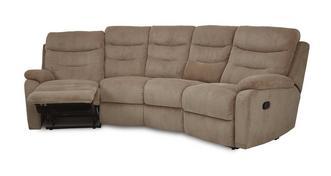 React 4-zitsbank gebogen handbediende recliner