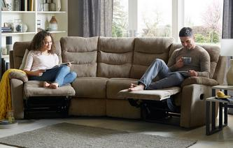 React 4 Seater Curved Manual Recliner React