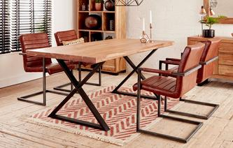 Reeve Fixed Table & 4 Cantilever Chairs Reeve