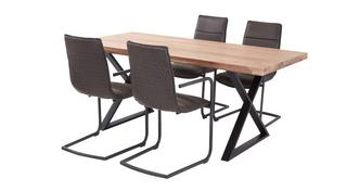 Reeve Fixed Table & 4 Dining Chairs