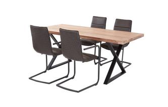 Fixed Table & 4 Dining Chairs Reeve