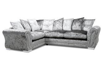 Pillow Back Right Hand Facing Arm 3 Seater Corner Sofa
