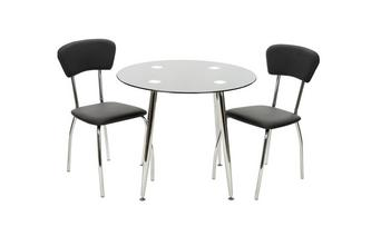 Bistro Table & Set of 2 Chairs Relish Black Sparkle