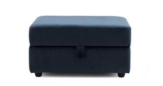 Remedy Velvet Large Storage Footstool