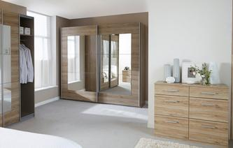 Lovely Reno Medium Mirrored Sliding Robe Reno