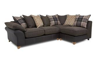 Left Arm Facing Open End Pillow Back Corner Sofa