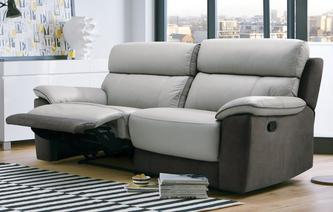 Reva 3 Seater Manual Recliner Bacio Vellutato