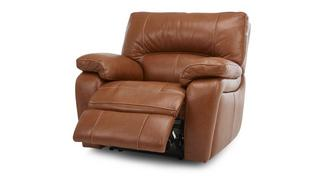 Reward leder en lederlook Handbediende recliner stoel