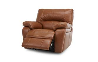 Leather and Leather Look Manual Recliner Chair Brazil Contrast with Leather Look Fabric