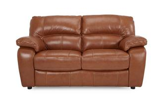 2 Seater Sofa Brazil Contrast with Leather Look Fabric
