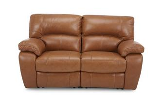 Leather 2 Seater Manual Recliner Brazil Contrast