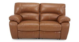 Reward leder en lederlook 2-zitter handbediende recliner